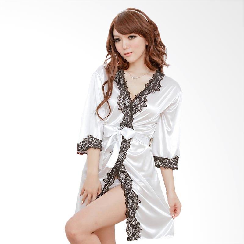 harga Jakarta Lingerie JLF169C White Kimono Sexy Pakaian Dalam Wanita Blibli.com