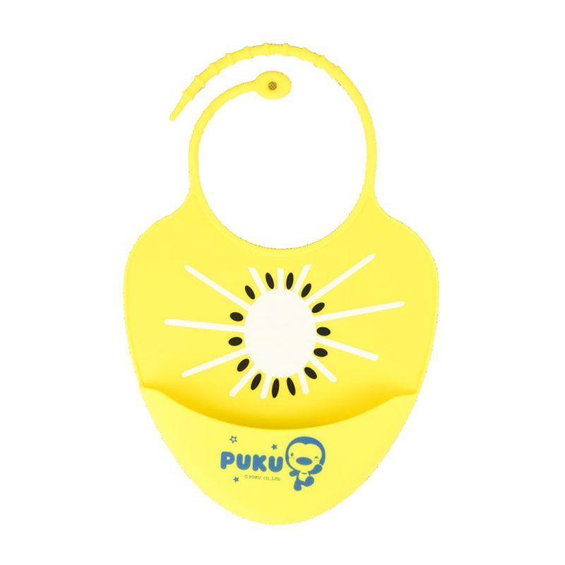 PUKU Baby Silicone Bib P14204-Y Kuning Celemek