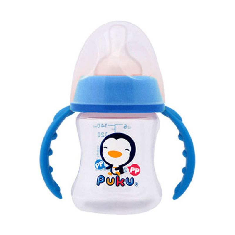 Puku Wide Neck Training PP P10194 Blue Botol Susu [140 cc]