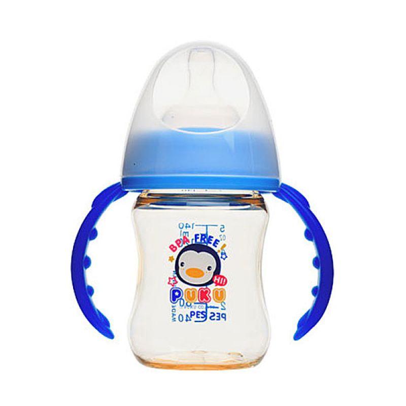Puku Wide Neck Training PES P10197 Blue Botol Susu [140 cc]