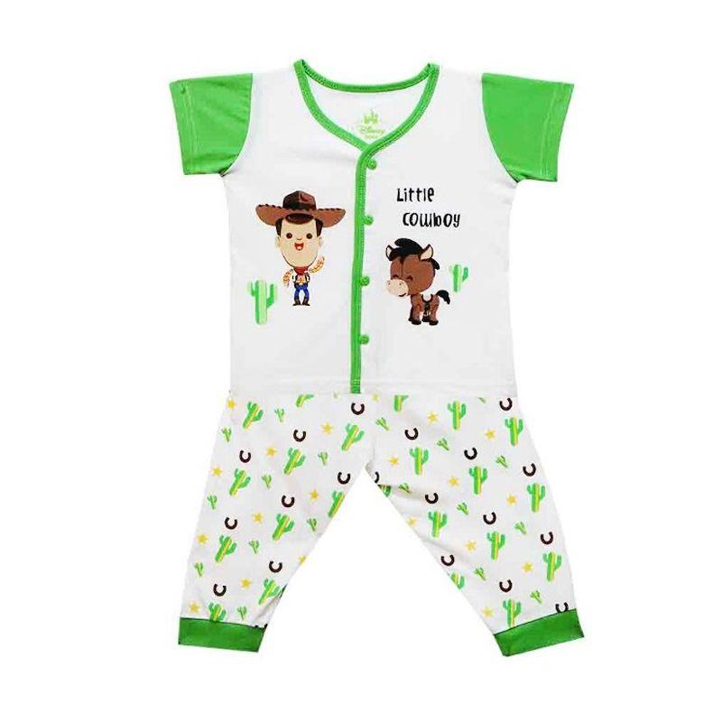 Disney Little Cowboy Green Setelan Pakaian Bayi