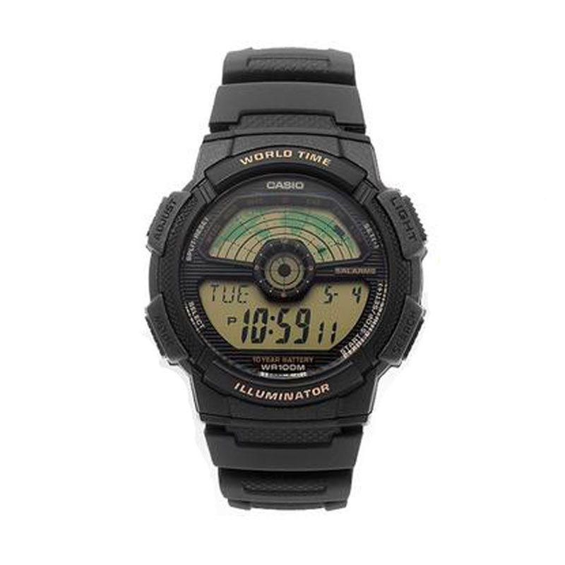 Casio AE-1100W-1B Sport Black Jam Tangan Pria