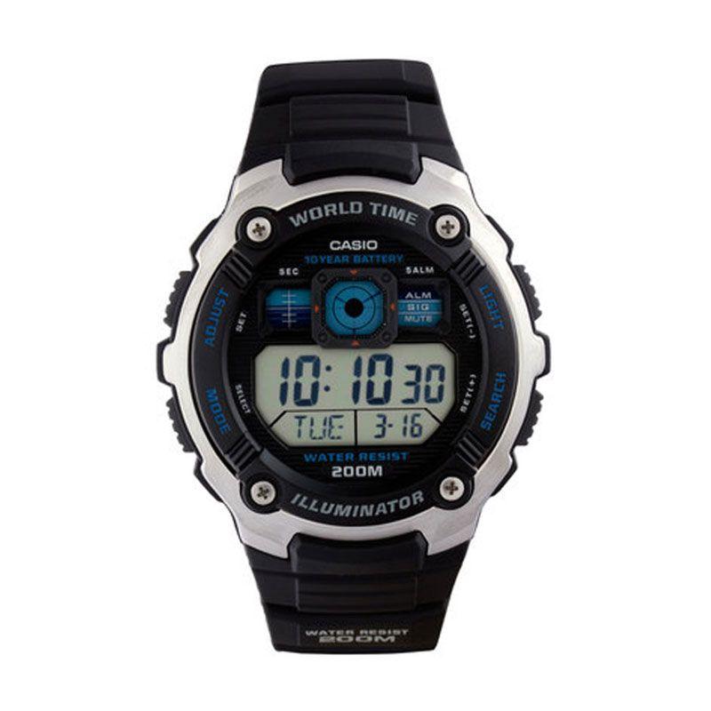 Casio AE-2000W-1A Sport Black Jam Tangan Pria