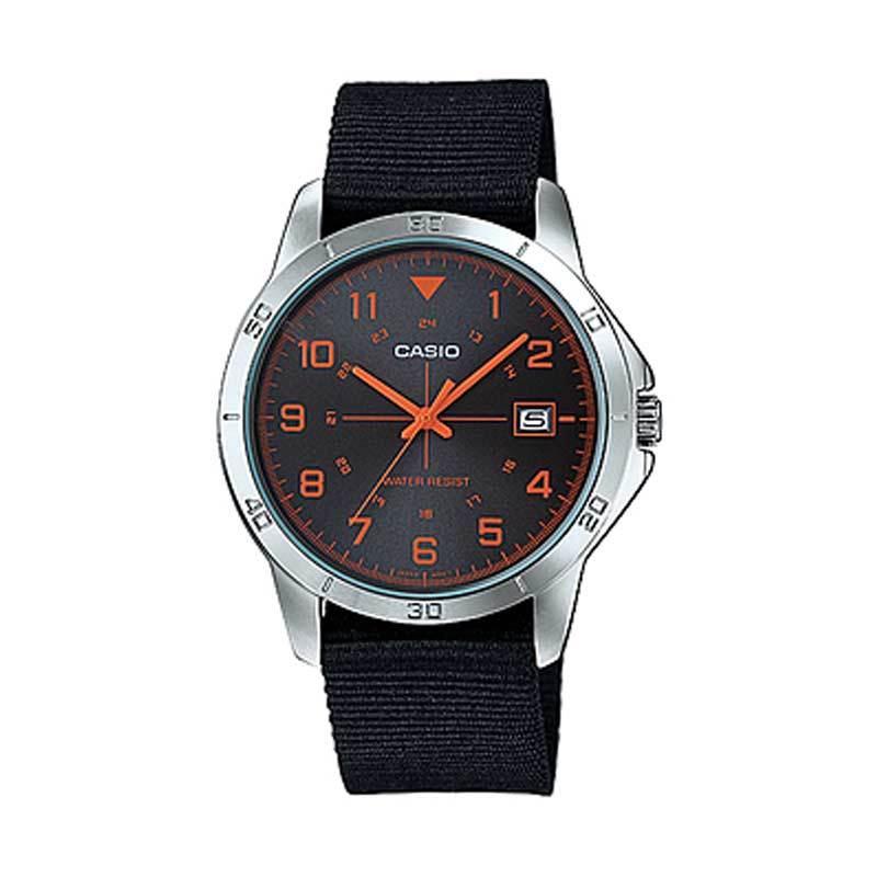 Casio MTP-V008B-1B Casual Orange Jam Tangan Pria