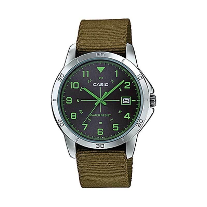Casio MTP-V008B-3B Casual Green Jam Tangan Pria
