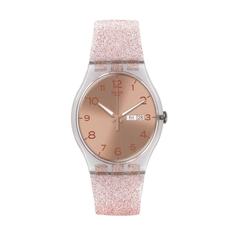 Swatch Casual SUOK703 Pink Jam Tangan Wanita