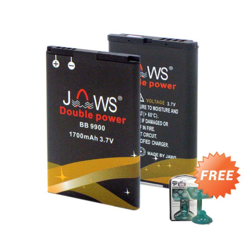 Jaws Double Power Battery for Blackberry J-M1 [1700 mAh] + Holder