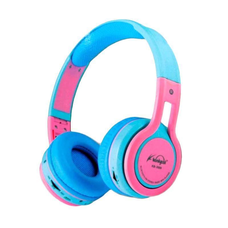 Koniycoi Biru Pink Bluetooth Headset