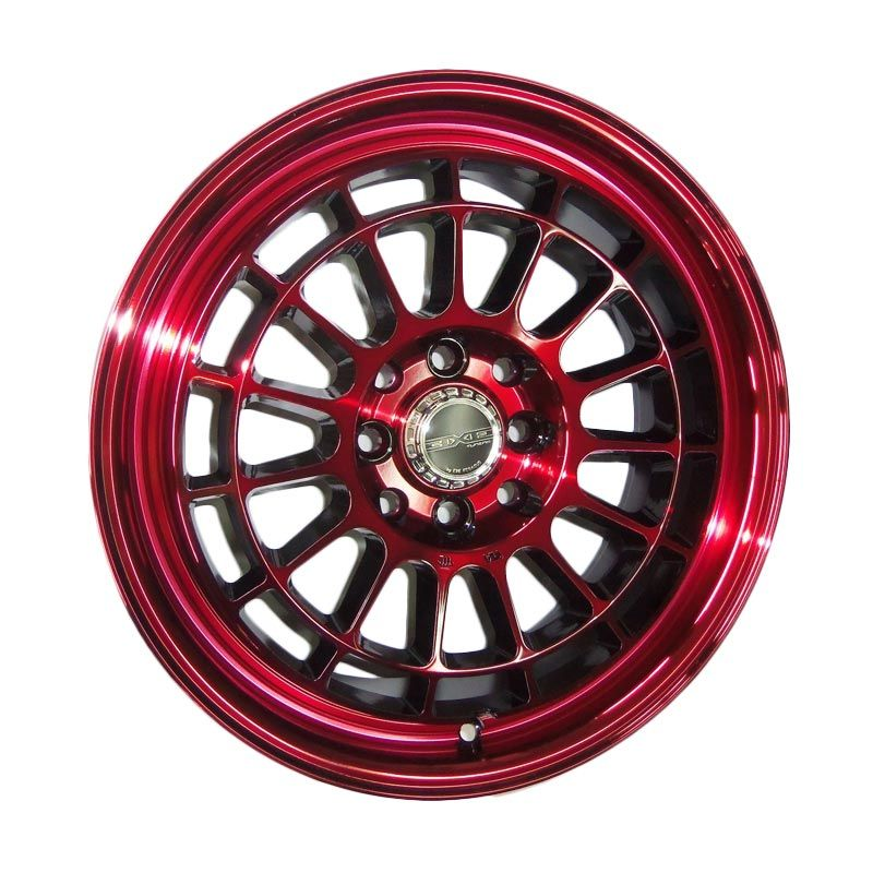 Replika BBR Competion Black Red Velg Mobil [Gratis Pemasangan]