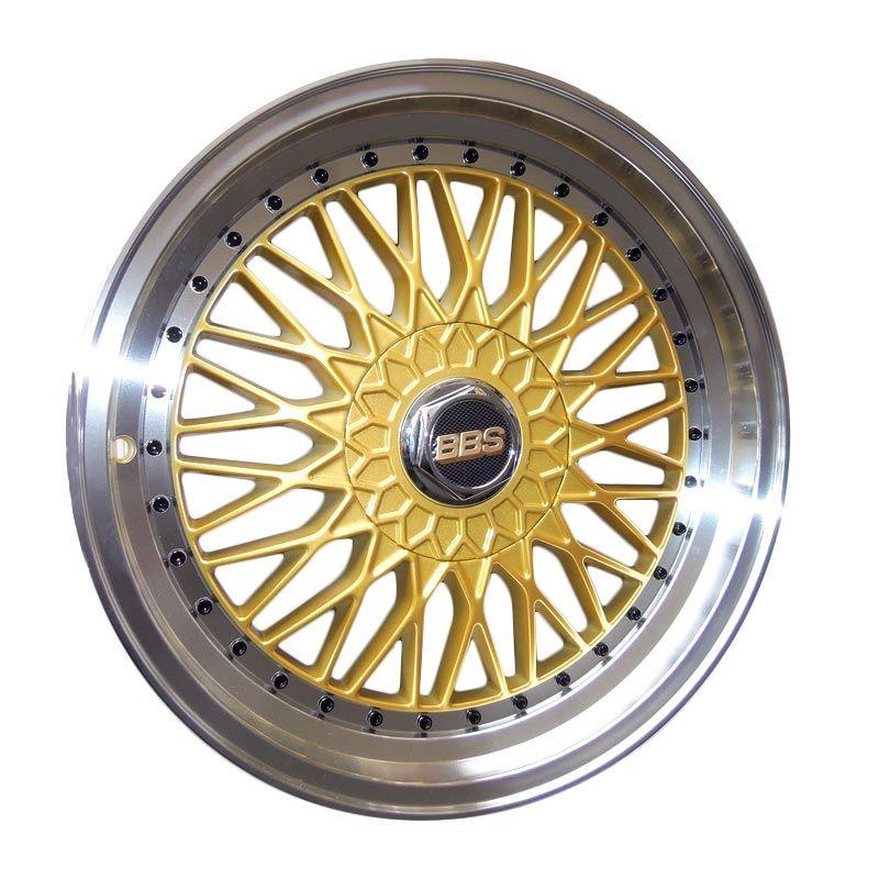 Replika BBS RS Gold Velg Mobil [Gratis Pemasangan]