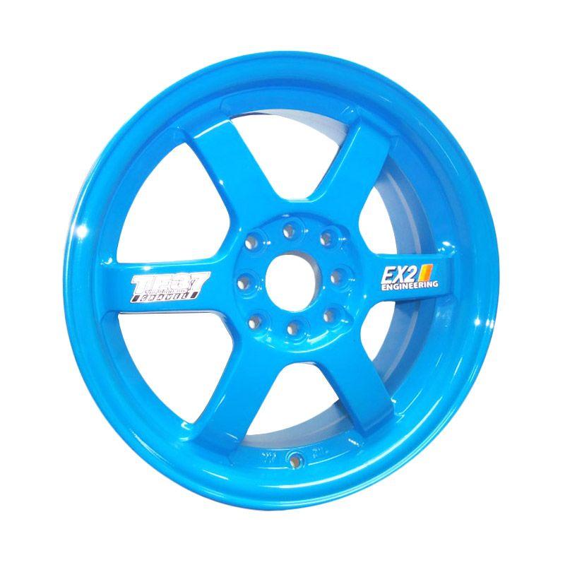 Volkrays TE37 Replika Blue Velg Mobil [16 Inch/4 Pcs/Gratis Pemasangan]