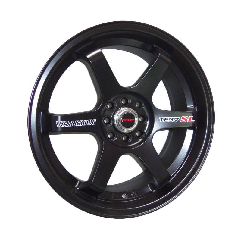 Volkrays TE37 SL Replika Black Matte Velg Mobil [17 Inch]