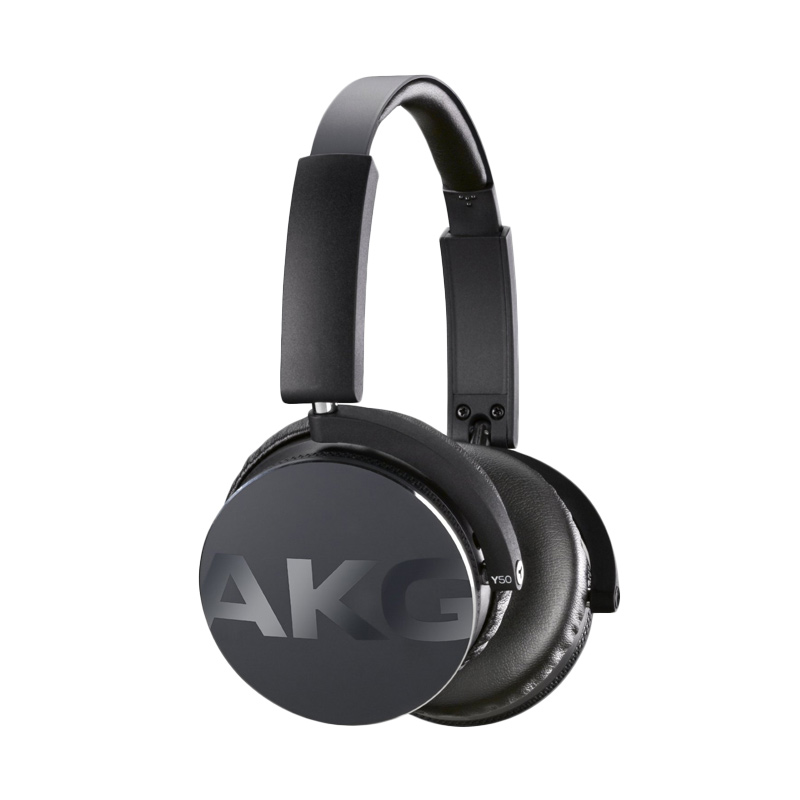 JBL AKG Y50 Black On-Ear Headphone With In-Line One-Button Universal Remote/Microphone