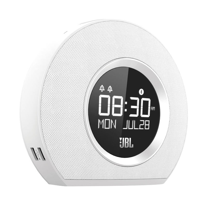 harga JBL Horizon Bluetooth Clock Radio With USB Charging - White Blibli.com