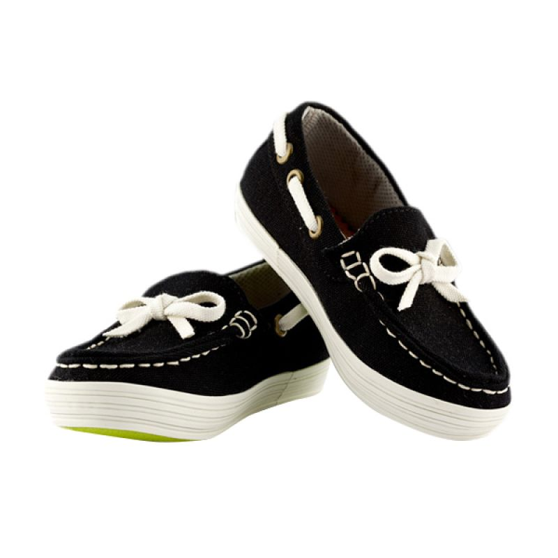 JD Kids JD Moccassine Black Sepatu Anak