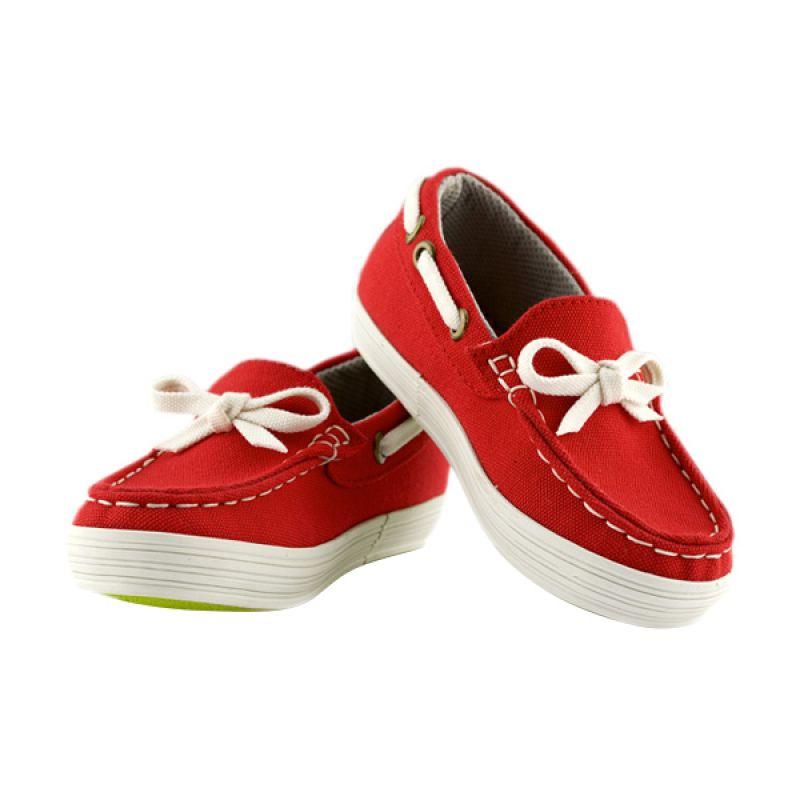 JD Kids JD Moccassine Red Sepatu Anak