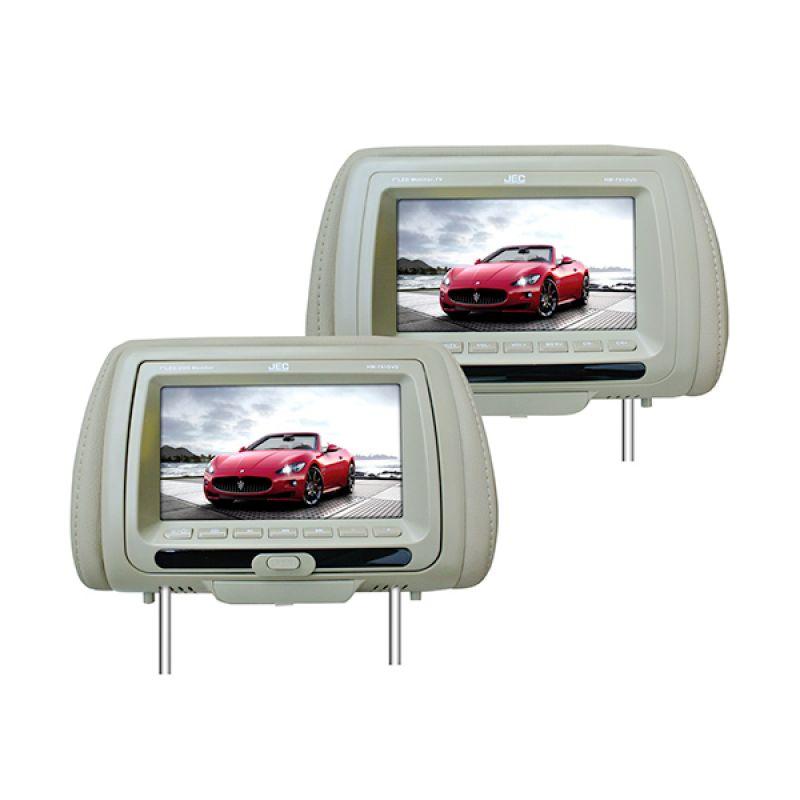 JEC HM-791 DVD Beige Headrest Monitor Mobil [7 Inch]