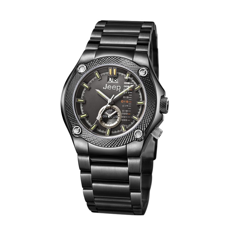 Jeep Multifunction JEEP JP10603 Analog Jam Tangan Pria Black