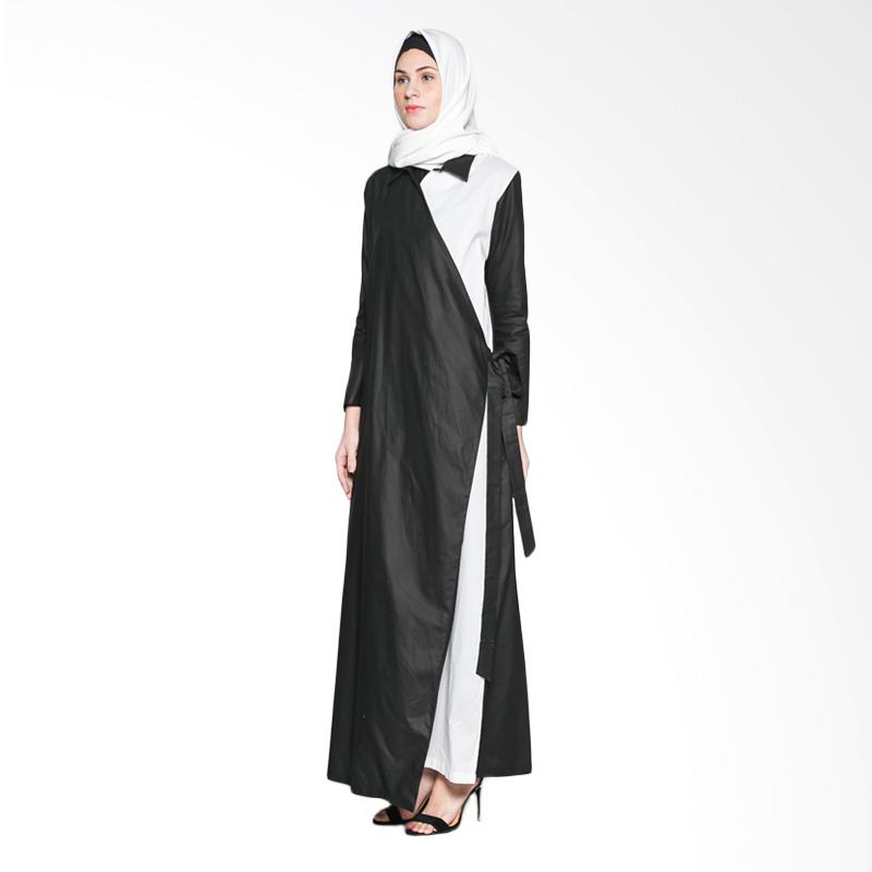Jenahara quilla jbb 010 d dress muslim black white