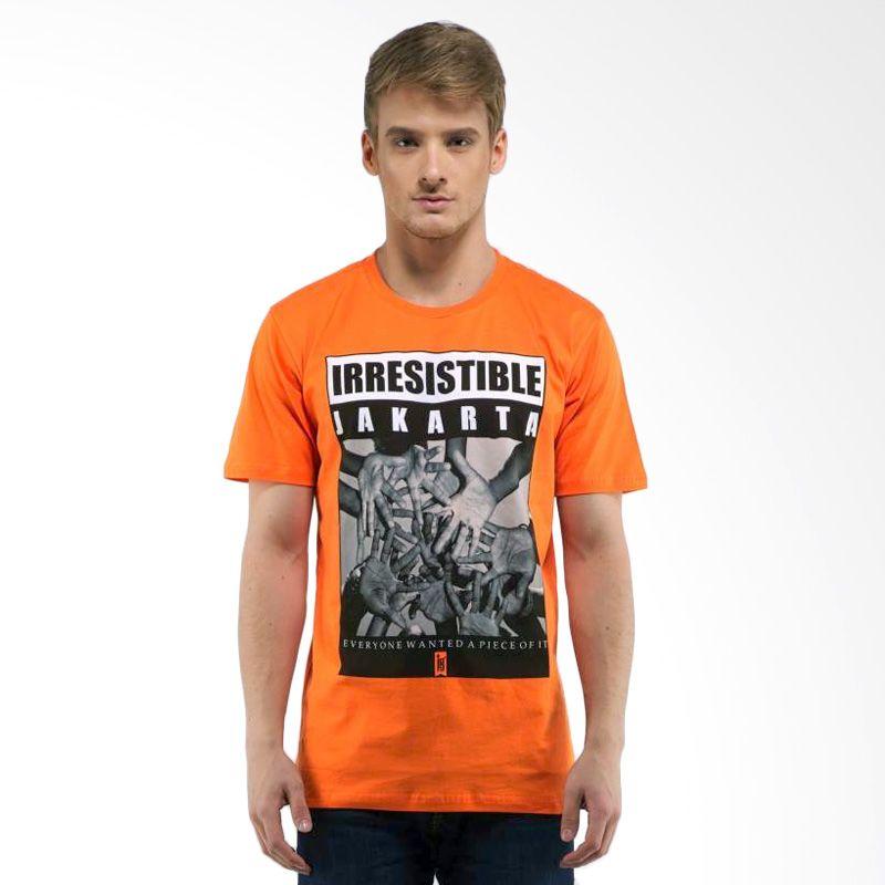 Jepege Irresistible Orange Kaos Pria