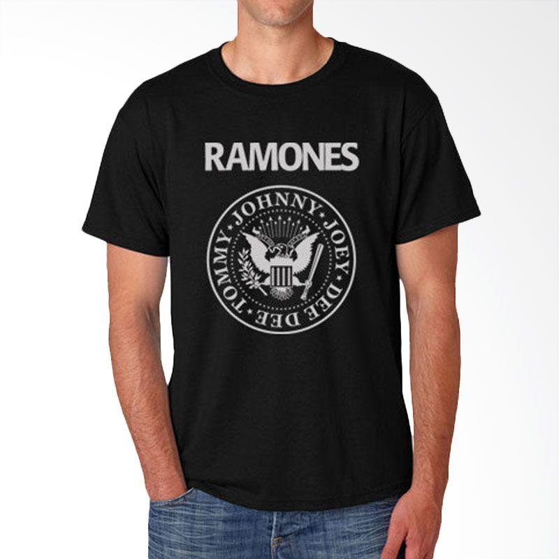 JersiClothing Ramones Velvet Flock Print Black Kaos Pria Extra diskon 7% setiap hari Extra diskon 5% setiap hari Citibank – lebih hemat 10%