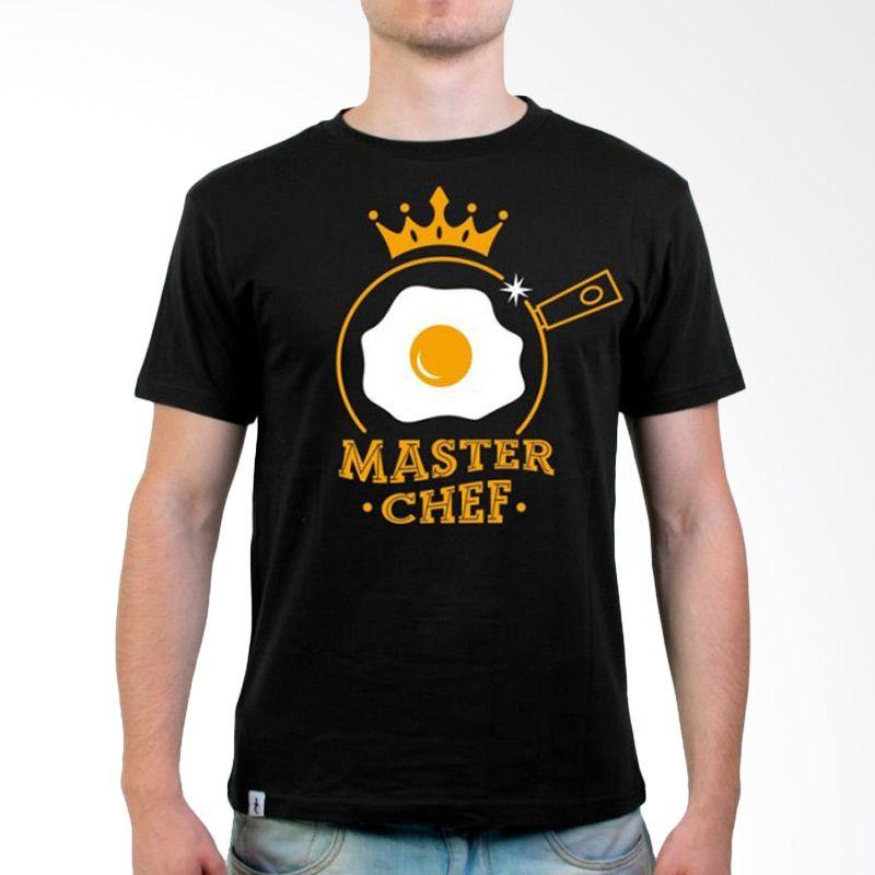 JersiClothing Master Chef Velvet Flock Print Black Kaos Pria