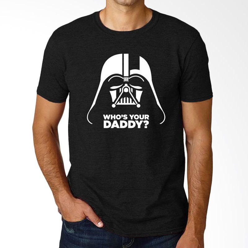 JersiClothing Star Wars Who's Your Daddy Velvet Flock Print Black Kaos Pria Extra diskon 7% setiap hari Extra diskon 5% setiap hari Citibank – lebih hemat 10%