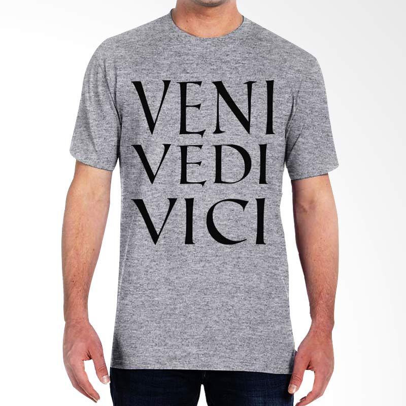 JersiClothing Veni Vedi Vici Velvet Flock Print Grey Kaos Pria Extra diskon 7% setiap hari Extra diskon 5% setiap hari Citibank – lebih hemat 10%