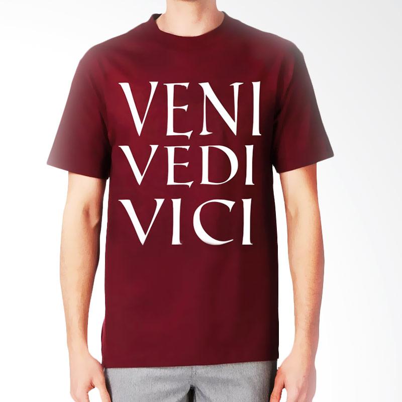 JersiClothing Veni Vedi Vici Velvet Flock Print Maroon Kaos Pria Extra diskon 7% setiap hari Extra diskon 5% setiap hari Citibank – lebih hemat 10%