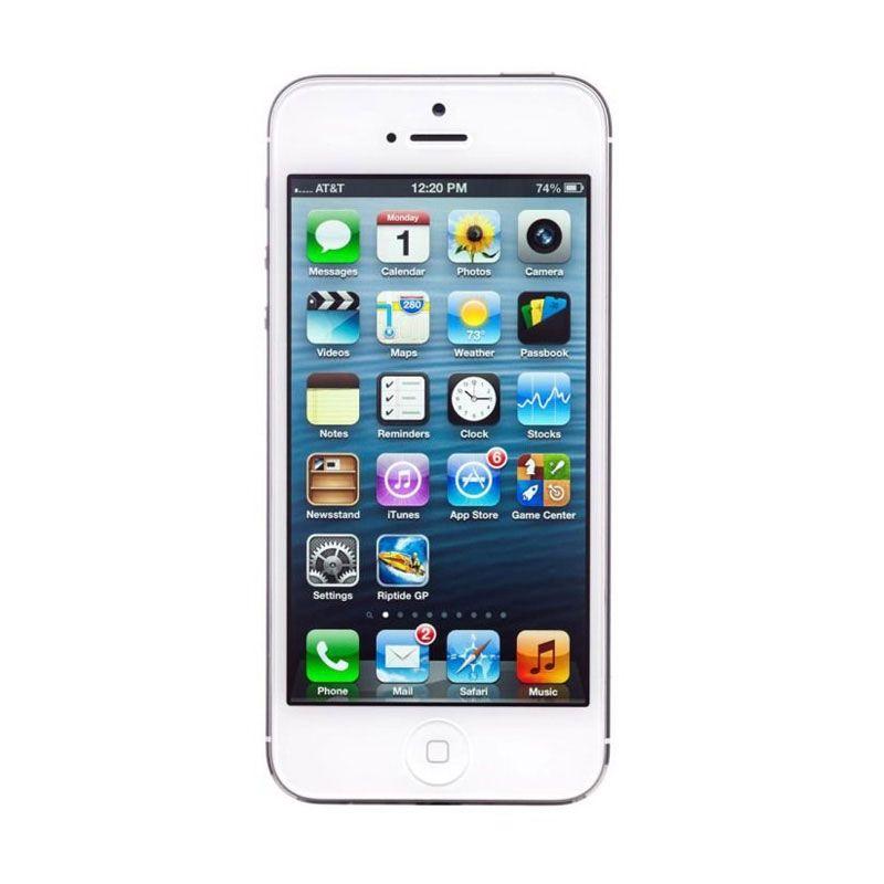 Apple Iphone 5 16 GB Putih Smartphone [Refurbished Garansi Distributor]