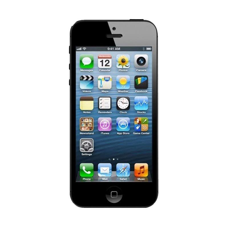 Apple Iphone 5 32GB Hitam Smartphone [Refurbished Garansi Distributor]