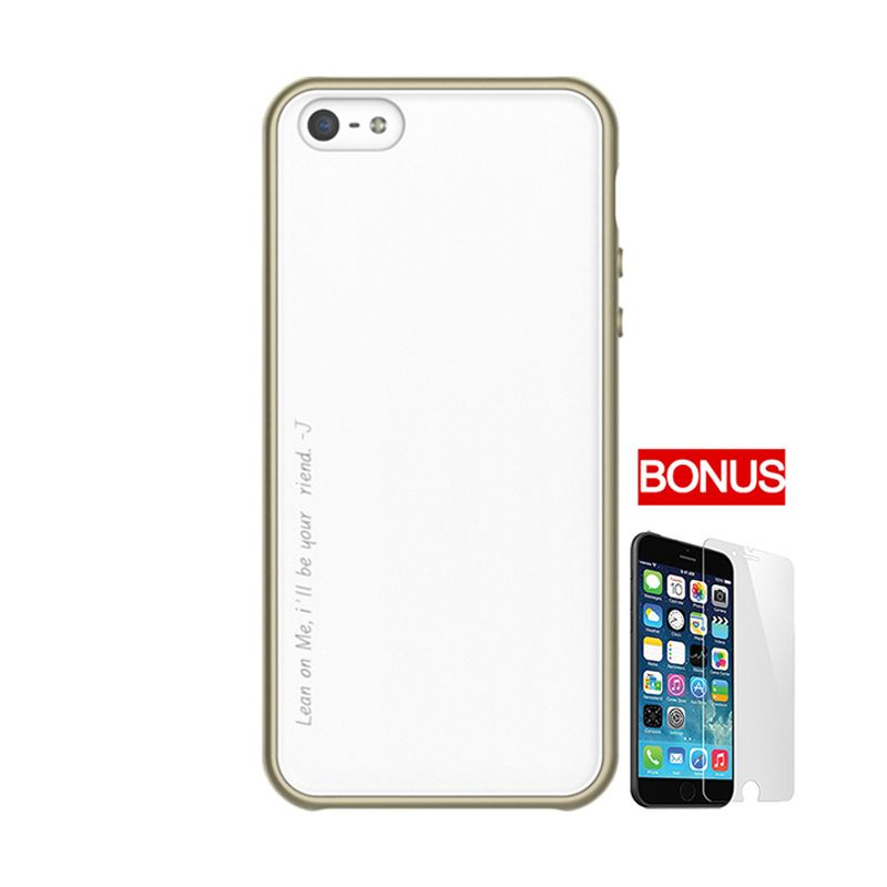 ARAREE Amy Gold White Casing For iPhone 5 or 5S + Bonus