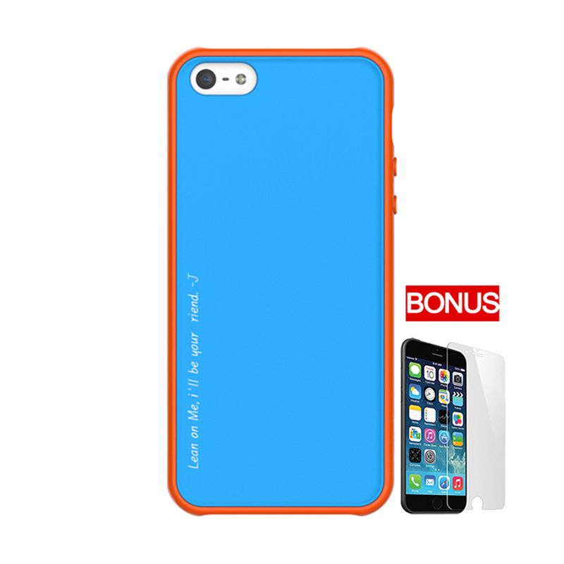 ARAREE Amy Sky Blue Orange Casing For iPhone 5 or 5S + Bonus