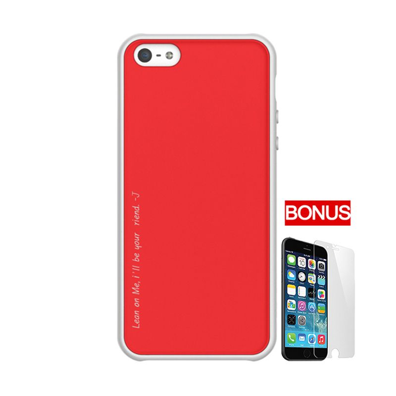 ARAREE Amy White Red Casing for iPhone 5 or 5S + Bonus