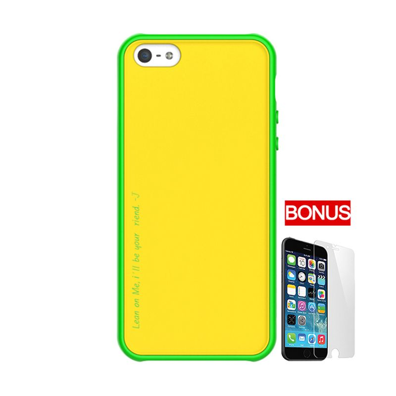 ARAREE Amy Yellow Green Casing For iPhone 5 or 5S + Bonus