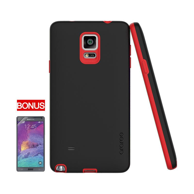 Araree Galaxy Note 4 Amy Bumper Case Black Red (Moulin Rouge)