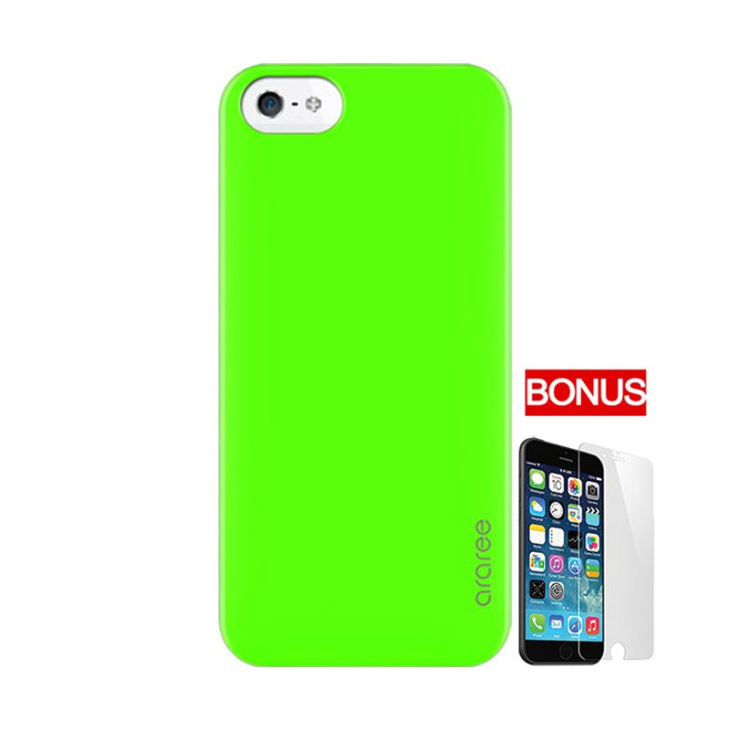 ARAREE Half Green Casing For iPhone 5 Or 5S