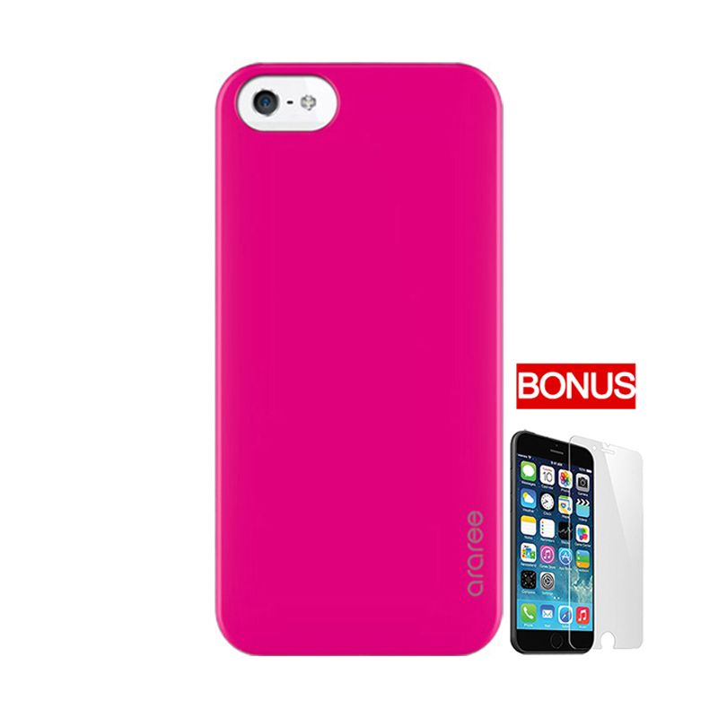 ARAREE Half Pink Casing For iPhone 5 Or 5S