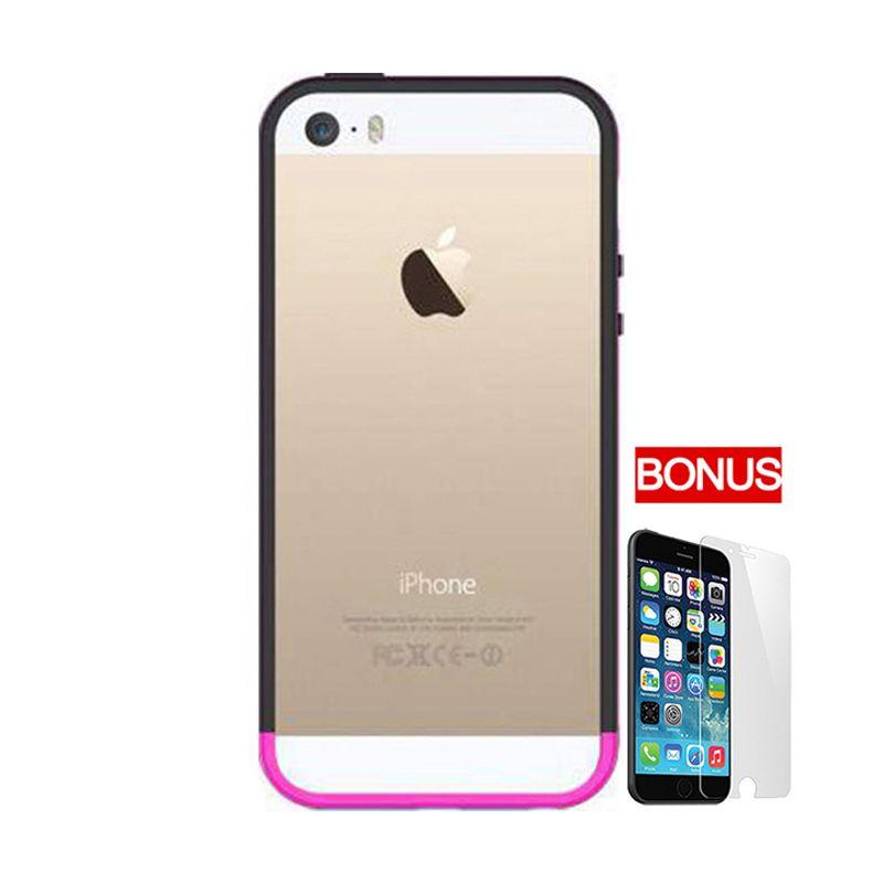 Araree Hue Bumper Pink Casing for iPhone 5 or 5S + Bonus