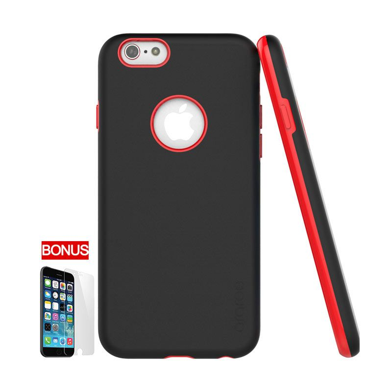 Araree iPhone 6 Amy Bumper Case Black Red (Moulin Rouge)