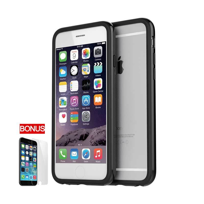 Araree iPhone 6 Hue Bumper Case Black Black (Carbon Black)