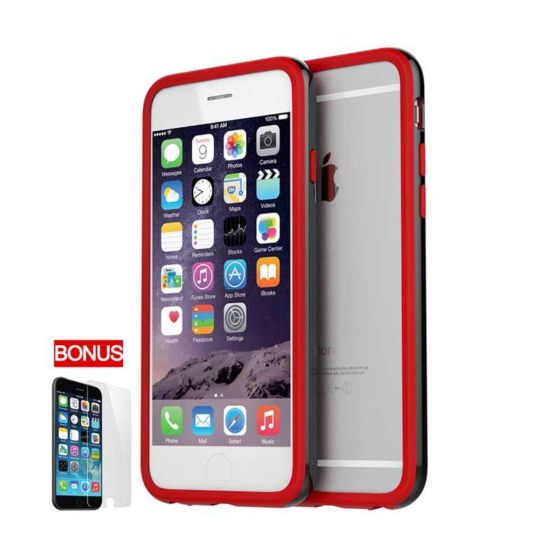Araree iPhone 6 Hue Bumper Case Black Red (Moulin Rouge)
