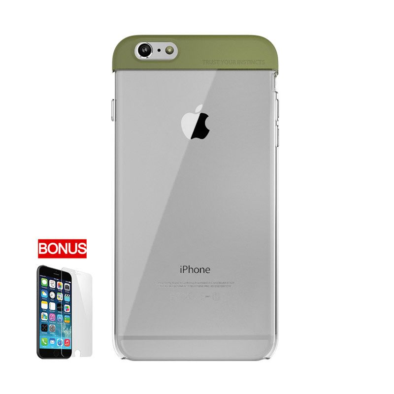 ARAREE iPhone6 Plus POPS HQ Transparent Case Olive Green