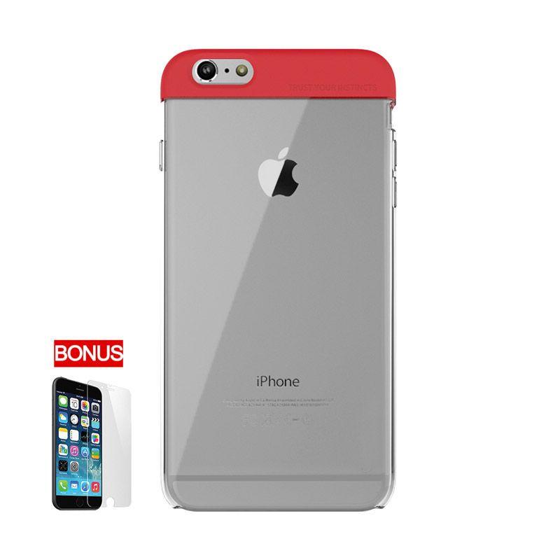 ARAREE iPhone 6 Plus POPS HQ Transparent Case Merah