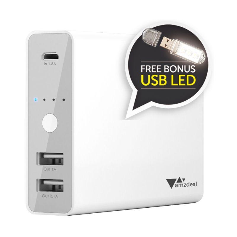AUKEY Fast and Smart Charging White Powerbank [12000 mAh]