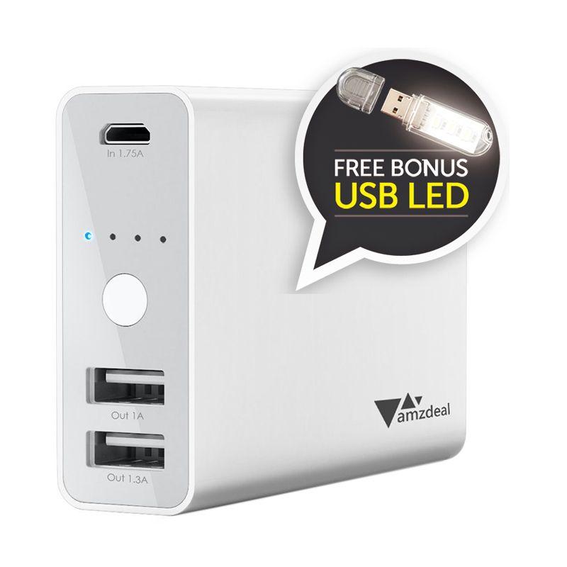 AUKEY Fast and Smart Charging White Powerbank [9000 mAh]