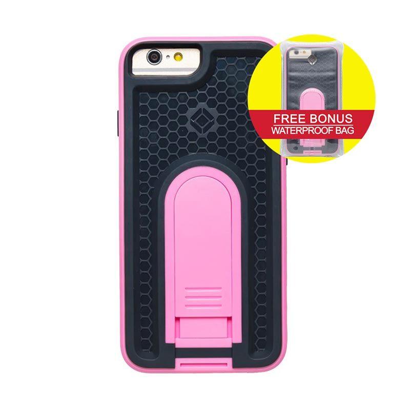 INTUITIVE CUBE iPhone6 X-Guard ANTI SHOCK Case Merah Muda