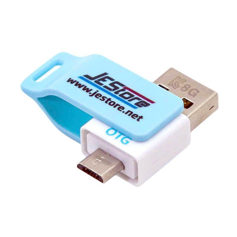 Jual JESTORE USB OTG Flashdisk Milk 8GB Keystrap Biru
