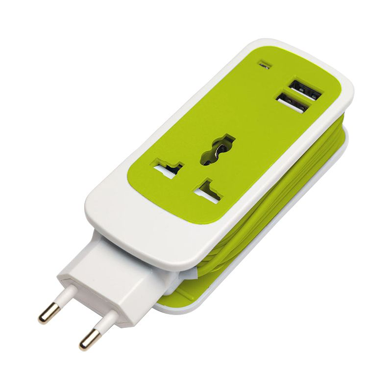 JESTORE Wall Travel Green Charger [1.5 m/2 Port ]