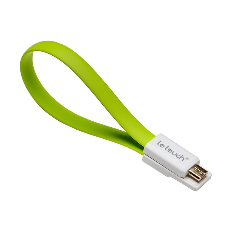 LeTouch Vogue S Green Micro USB Cable [22 cm]